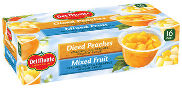 Del Monte® Diced Peaches/Mixed Fruit Variety Pack 16-4 oz. Cups