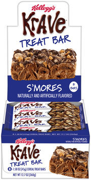 Kellogg's Krave® Treat Bars S'Mores Single Serve 8-1.58 oz. Cereal Bars