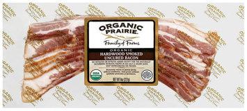 Organic Prairie Organic Hardwood Smoked Uncured Bacon 8 Oz Package