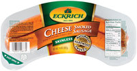Eckrich Cheese Skinless Smoked Sausage Smoked Sausage Rope 14 Oz Package
