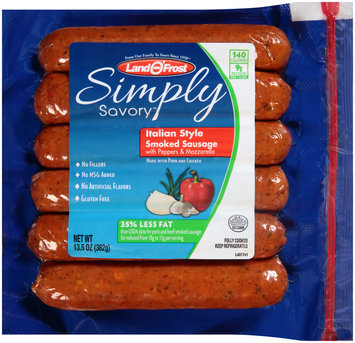 Land O'Frost® Simply Savory™ Italian Style Smoked Sausage with Peppers & Mozzarella 13.5 oz. Pack