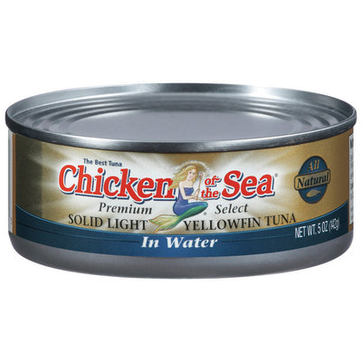 Chicken of The Sea Solid Light Yellowfin In Water Tuna 5 Oz Can