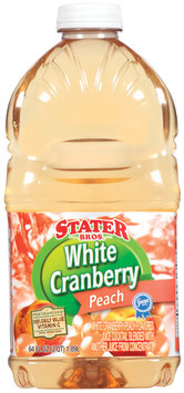 Stater Bros. White Cranberry Peach Juice Cocktail 64 Oz Plastic Bottle