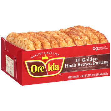 Ore-Ida® Golden Hash Brown Patties 10 ct Box