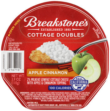 Breakstone's Cottage Doubles Cottage Cheese & Apple Cinnamon Topping 3.9 oz. Tray