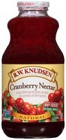 R.W. Knudsen Family® Natural Cranberry Nectar 100% Juice 32 fl. oz. Bottle