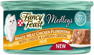 Purina Fancy Feast Medleys White Meat Chicken Florentine Pate Cat Food 3 oz. Can