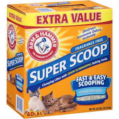 ARM & HAMMER® Super Scoop® Clumping Litter Fragrance Free 40 lb. Box