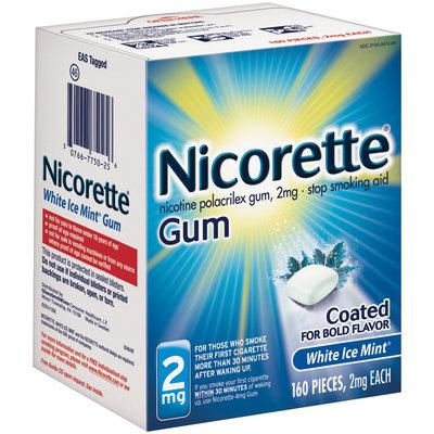 Nicorette® White Ice Mint® Stop Smoking Gum 2mg 160 ct Box