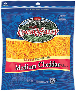 Cache Valley® Natural Finely Shredded Medium Cheddar Cheese 8 oz. Bag