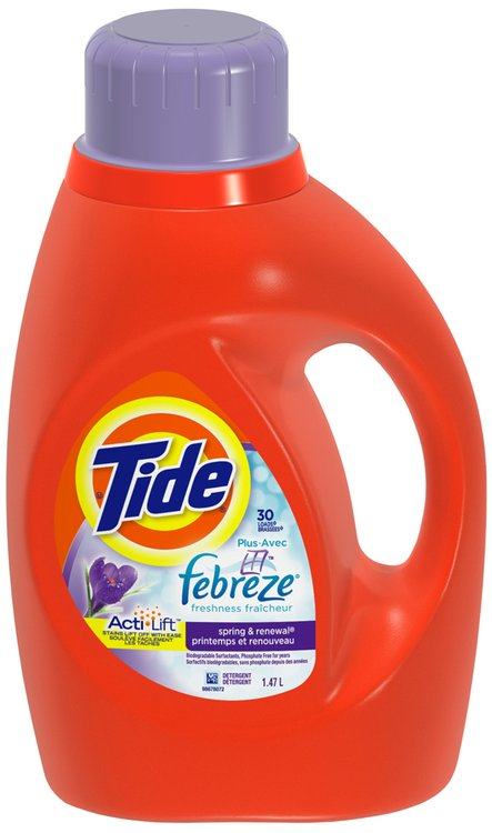 Tide with Febreze Freshness Spring and Renewal Scent Liquid Laundry Detergent 30 Loads 1.47 L