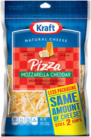 Kraft Natural Cheese Pizza Mozzarella & Cheddar Shredded Cheese 8 Oz Zip Pak
