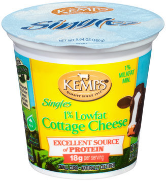 Kemps® Singles 1% Lowfat Cottage Cheese 5.64 oz. Cup