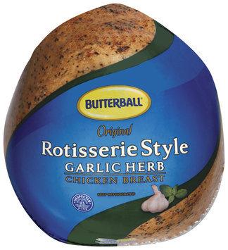 Butterball Original Rotisserie Style Garlic Herb Chicken Breast 1 Ct Wrapper