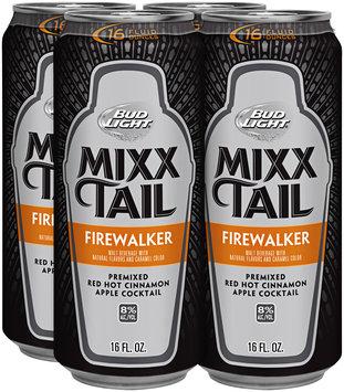 Bud Light Mixx Tail Firewalker Red Hot Cinnamon Apple Cocktail