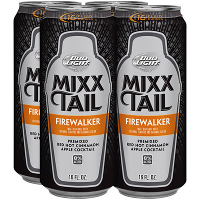 Bud Light Mixx Tail Firewalker Red Hot Cinnamon Apple Cocktail