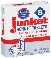 Junket For Rennet Custard & Ice Cream Rennet Tablets  8 Ct Box