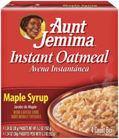 Aunt Jemima Maple Syrup Instant Oatmeal