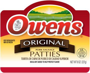 Owens® Original Pork Sausage Patties