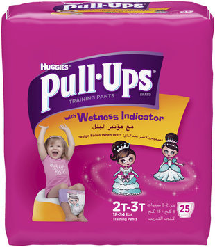 Huggies® Pull-Ups® with Wetness Indicator Girls 2T-3T 25 ct Pack