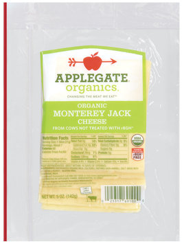 Applegate Farms Organic Monterey Jack (Item Number 12691) Cheese 5 Oz Peg