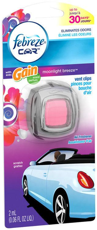 Car Febreze Car Vent Clips Gain Moonlight Breeze Air Freshener 1