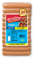 Gwaltney® Angus Beef Bun Size Hot Dogs 48 oz. Pack