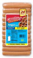 Gwaltney® Angus Beef Bun Size Hot Dogs 48 oz. Pack