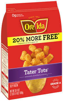 Ore-Ida® Tater Tots® Seasoned, Shredded Potatoes 38.4 oz. Bag
