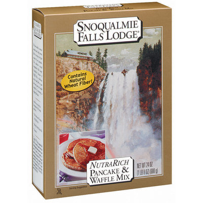 Snoqualmie Falls Lodge Nutra Rich Pancake & Waffle Mix 24 Oz Box