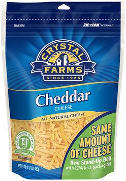 Crystal Farms® Shredded Cheddar Cheese 16 oz. Zip Pak®