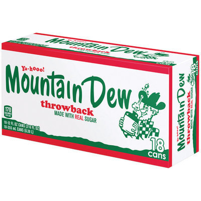 Mountain Dew® Throwback 18 Pack 12 fl. oz. Cans