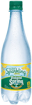 Poland Spring® Sparkling Lemon Natural Spring Water