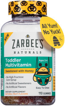 Zarbee's® Naturals Toddler Multivitamin 110 ct Bottle