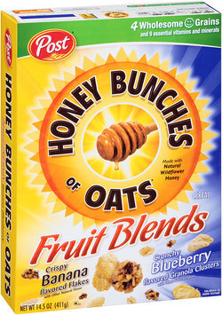 Honey Bunches of Oats Fruit Blends Banana & Blueberry Cereal