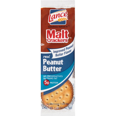 Lance® Malt™ Real Peanut Butter Crackers 1.29 oz. Wrapper