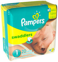 Pampers Swaddlers Mini Pack Size 1 Diapers 20 ct Bag