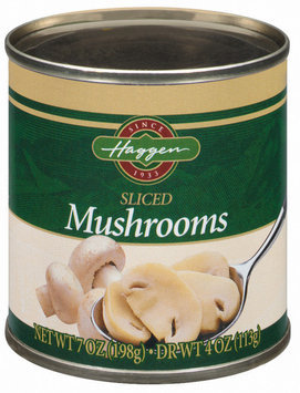 Haggen Sliced Mushrooms 4 Oz Can