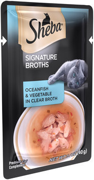 Sheba® Signature Broths Ocean & Vegetable in Clear Broth Premium Cat Food 1.4 oz. Pouch