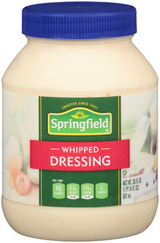 Springfield® Whipped Salad Dressing 30 fl. oz. Jar