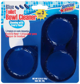 Special Value® Blue Toilet Bowl Cleaner 3 Tablets-3.25 oz. Package