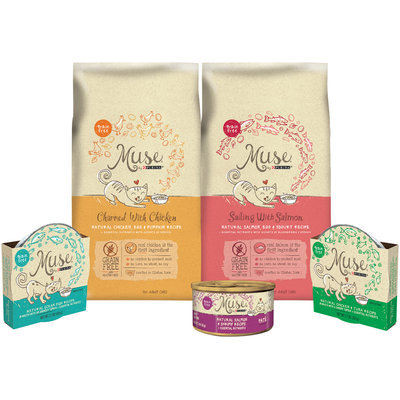 Muse by Purina Dry & Wet Cat Food Family Group Shot