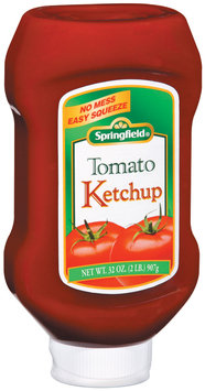 Springfield Tomato Easy Squeeze Ketchup 32 Oz Plastic Bottle