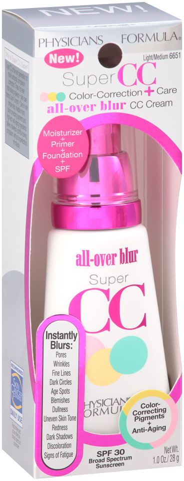 Physicians Formula® Super CC Color-Correction + Care All-Over Blur Eye Cream Light/Medium 6651 1 oz. Box