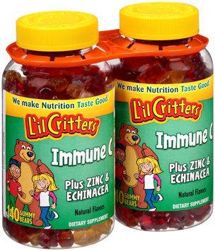 L'il Critters™ Immune C Plus Zinc & Echinacea Dietary Supplement Gummy Bears 280 ct Bottles