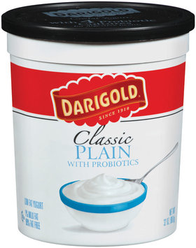 Darigold Classic Plain W/Probiotics Lowfat Yogurt 32 Oz Tub
