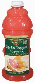 Haggen Ruby Red Grapefruit & Tangerine Juice 64 Oz Plastic Bottle