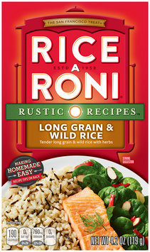 Rice-A-Roni Nature's Way Long Grain & Wild Rice Rice Mix 4.2 Oz Box