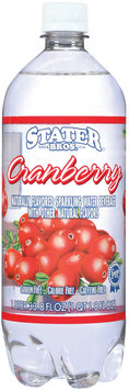 Stater Bros. Cranberry Sparkling Water Beverage 33.8 Oz Plastic Bottle