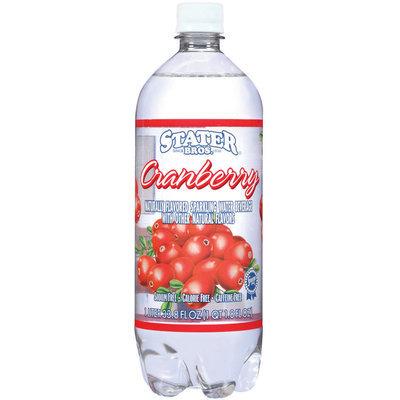 Stater Bros. Cranberry Sparkling Water Beverage 33.8 Oz Plastic Bottle